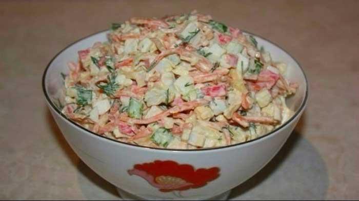 Вкусные салатики — 4 простых рецепта