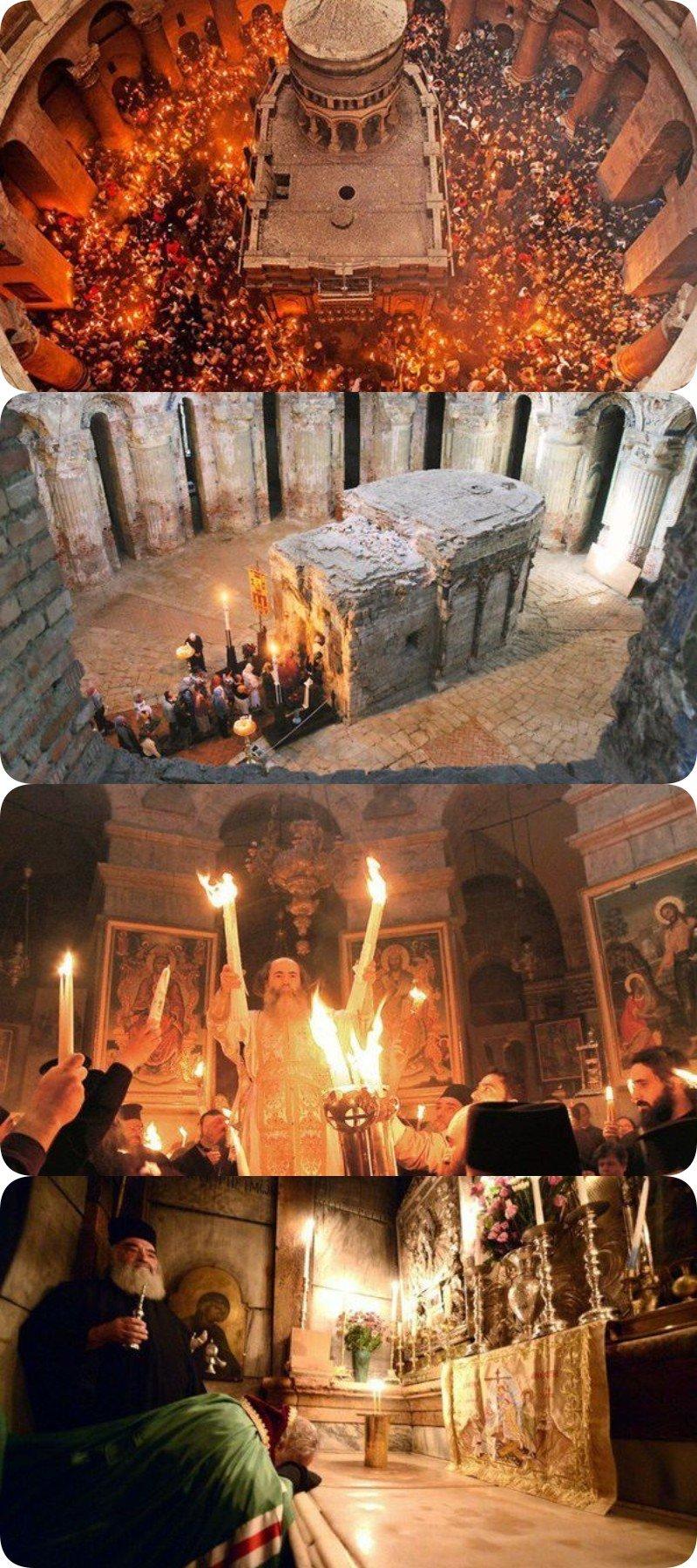 Ученые попали к Гробу Господню и, спустя некоторое время, чуть не поседели.