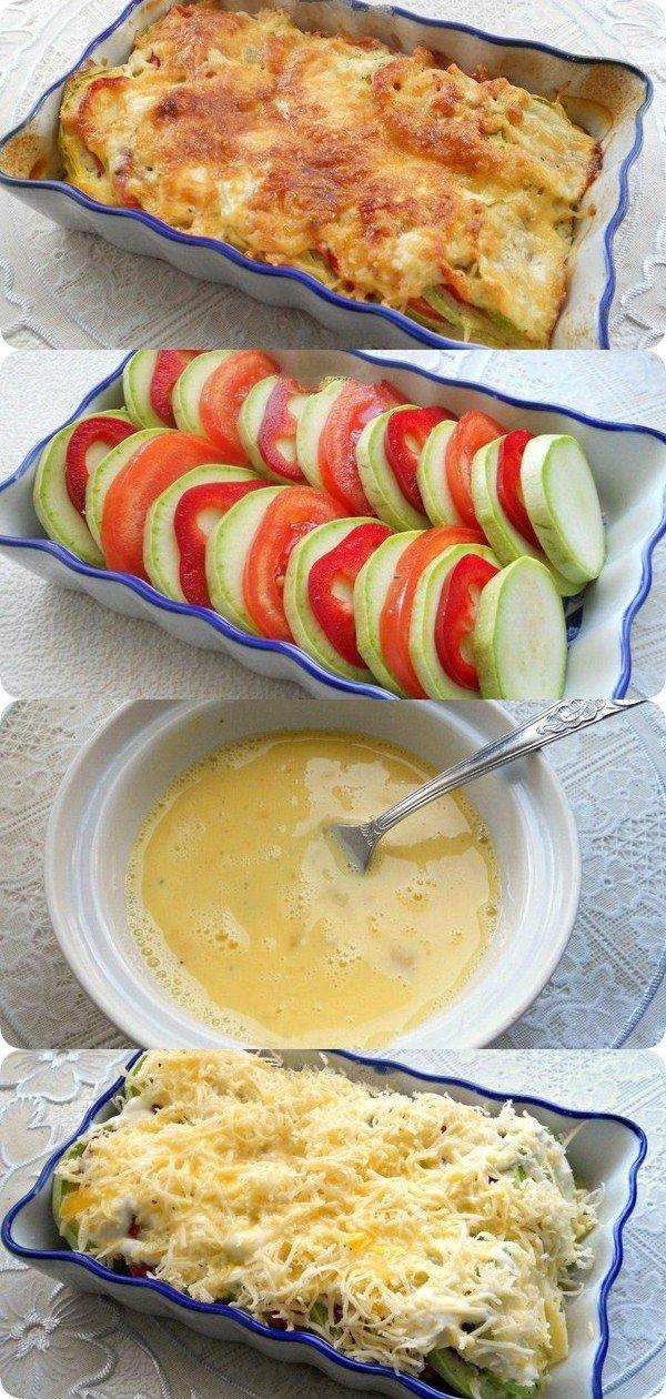 Кабачки запеченные с помидорами и сыром - самый обалденный и полезный ужин!