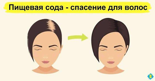 Пищевая сода - спасение для волос