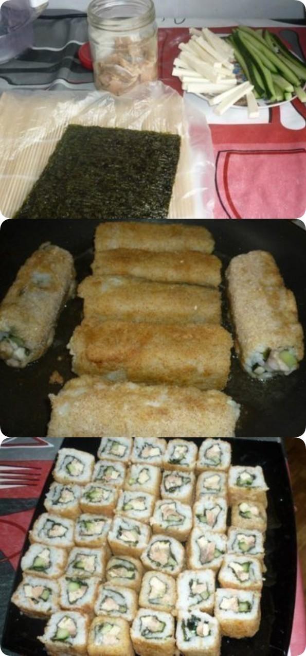Роллы, как в ресторане японской кухни