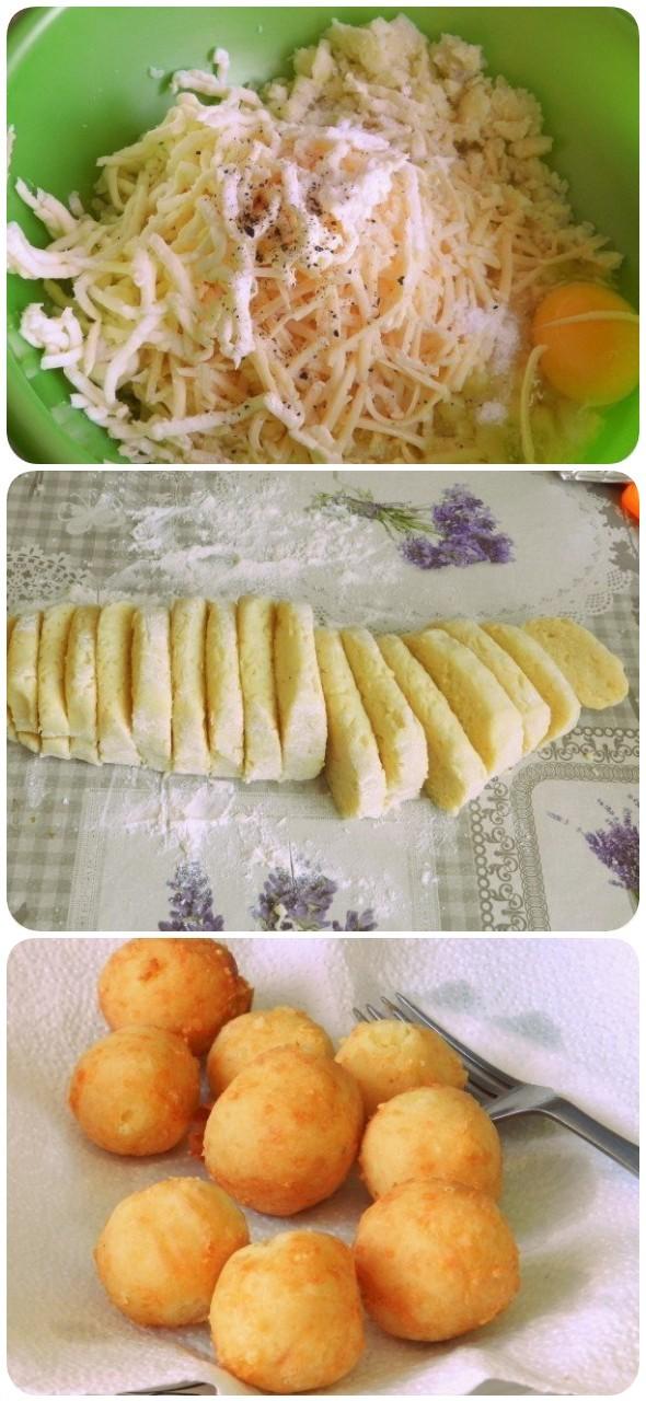 Отличные картофельные пончики с сыром
