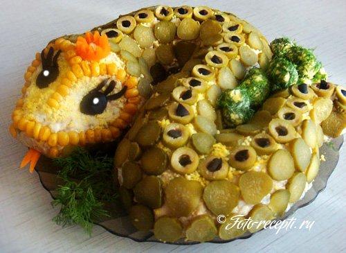 Салат «Змейка»