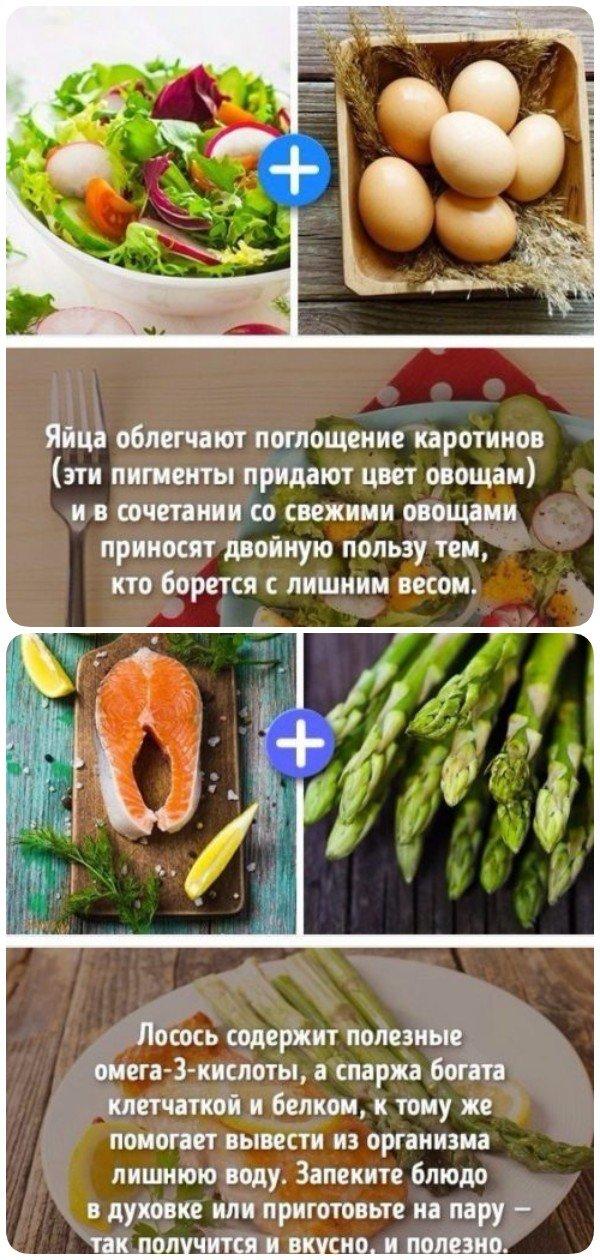 6 сочетаний продуктов, которые помогут вам похудеть