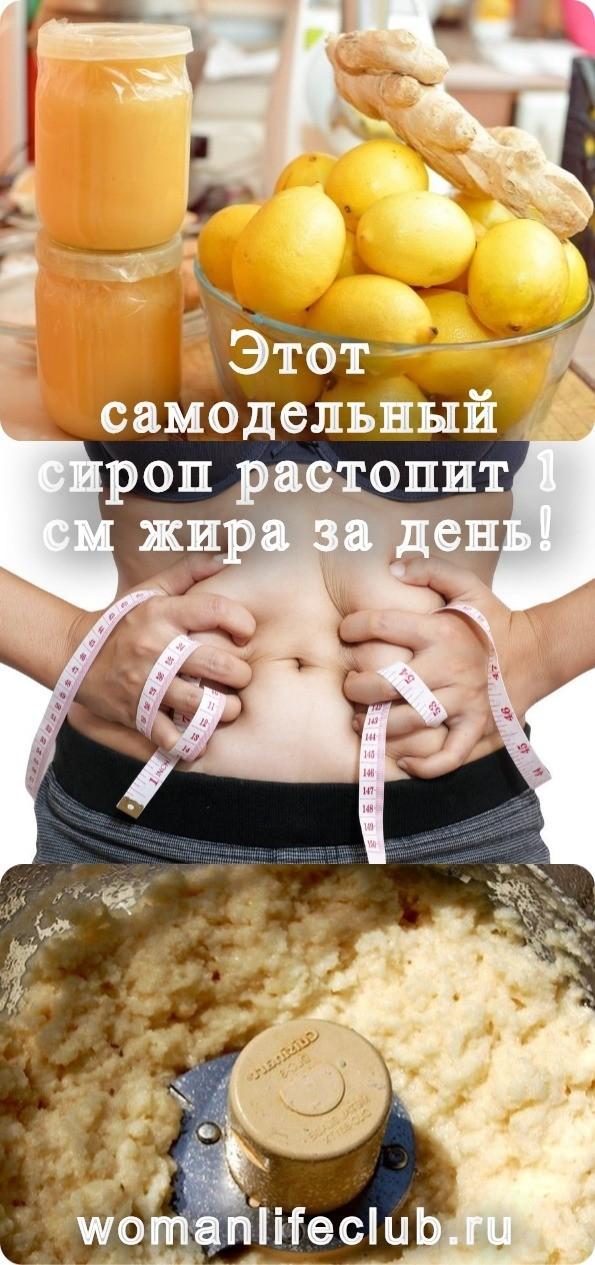 Этот самодельный сироп растопит 1 см жира за день!
