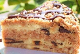 Творожный пирог с черносливом. Это чудо просто тает во рту!