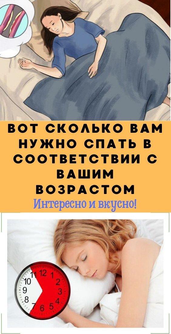 Вот сколько Вам нужно спать в соответствии с Вашим возрастом