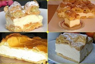 Заварной пирог «Карпатка». Попробуйте, это очень вкусно
