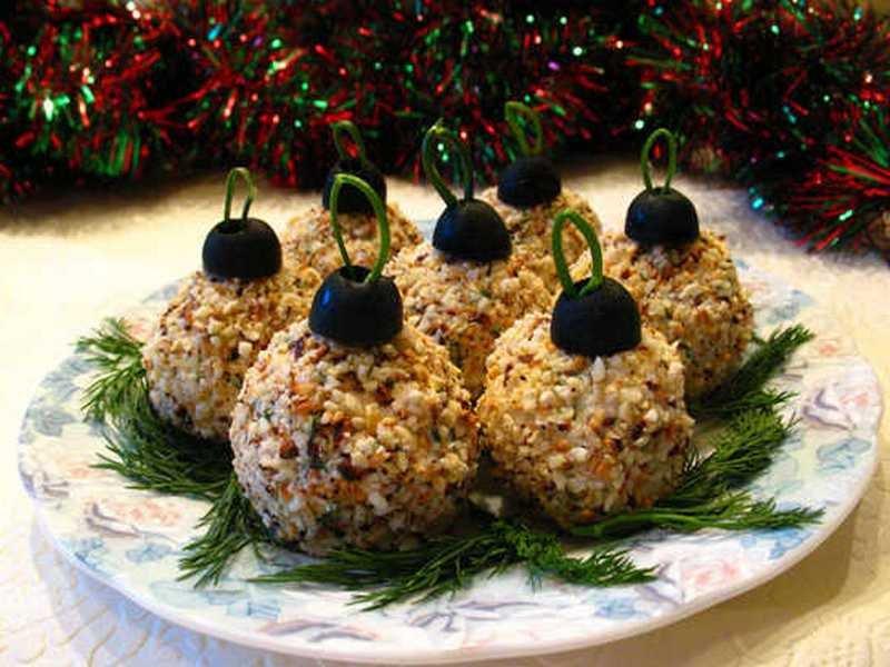 Елочные шары - вкусная новогодняя закуска