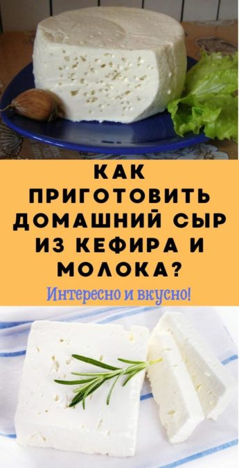 Как приготовить домашний сыр из кефира и молока?