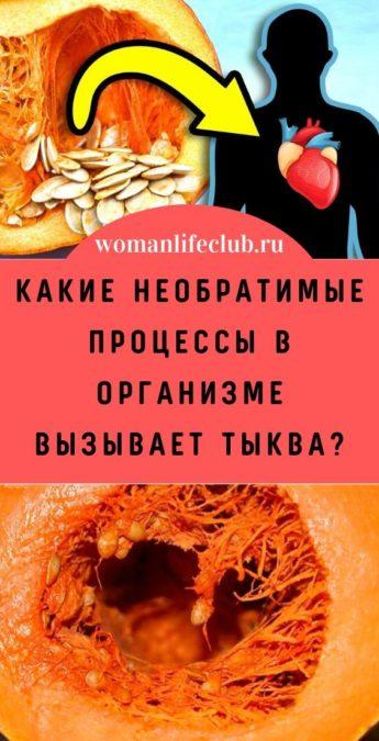 Какие необратимые процессы в организме вызывает тыква?