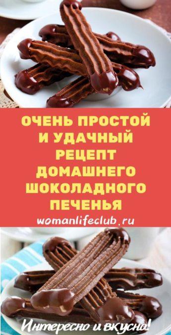 Очень простой и удачный рецепт домашнего шоколадного печенья
