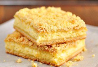 Из той поездки в деревню я ещё привезла рецепт вкусного татарского творожного пирога, которым нас угощали.