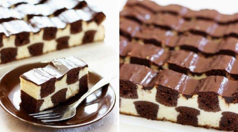Шахматный торт. Соблазнительно и очень вкусно!