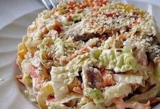 Салат с пекинской капустой «Переполох».