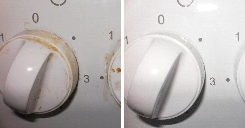 Недорогое аптечное средство быстро очистит ручки плиты от жира!