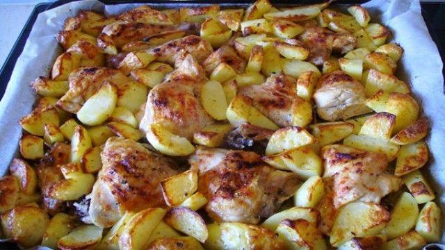Курица с картофелем в шашлычном стиле: невероятно вкусно